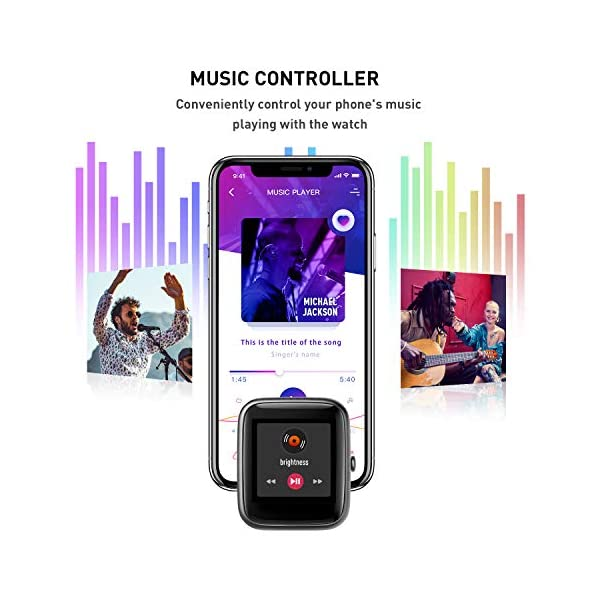 Reloj Inteligente Mujer,Smartwatch Hombre Impermeable IP68 Pulsera Actividad 1.3 Pulgada con Monitor de Ritmo cardíaco… 4