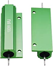 Twidec/2Pcs 100W 8 Ohm 5% Aluminum Hosed Resistor Screw Tap Chassis Mounted Wirewound Resistors for Power Supply Equipment Green RX24-100W8RJ