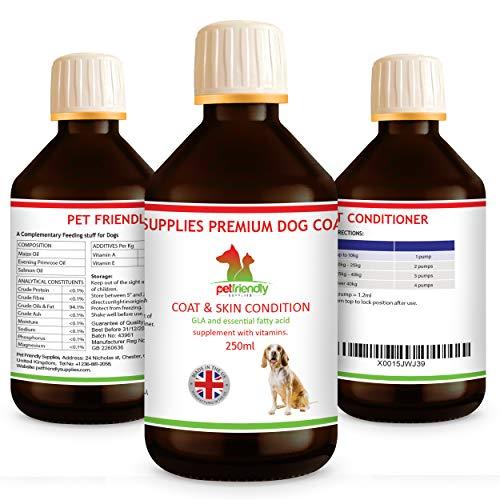 Hundemantel und Conditioner Beste Behandlung für trockene, schuppige, juckende, empfindliche Haut (250 ml)
