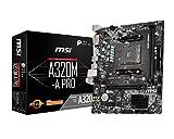 MSI A320M-A Pro - Placa Base AM4 Micro ATX AMD A320 A320M-A Pro, AMD,...