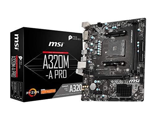 MSI A320M-A Pro - Scheda madre slot AM4 Micro ATX AMD A320 A320M-A Pro, AMD, slot AM4, AMD Athlon, AMD Ryzen, DDR4-SDRAM, DIMM, 1866, 2133, 2400, 2667, 2933, 3200 MHz