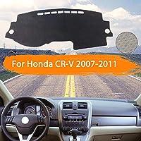 OZLXKNC カーダッシュボードカバーダッシュマットインナーサンシェードダッシュボードパッドカーペットカースタイリング、ホンダCR-V RE1〜RE5 RE7 2007〜2011用