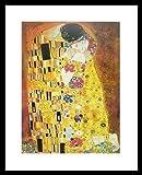 Gustav Klimt Poster Kunstdruck Bild Der Kuss 40x50cm mit