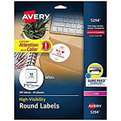 Avery High Visibility Round Labels from Amazon.com