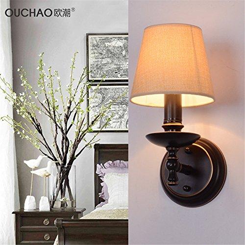 JJZHG Wandlamp, waterdicht, wandverlichting, land-, slaap- en woonkamer, eetkamer, hal, gang, enkele spiegel, voorwand bevat: wandlamp, stoere wandlampen