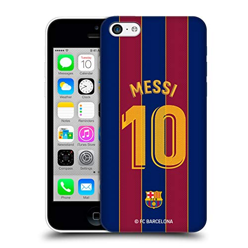 Head Case Designs Officially Licensed FC Barcelona Lionel Messi 2020/21 Players Home Kit Group 1 Hard Back Case Compatible with Apple iPhone 5c