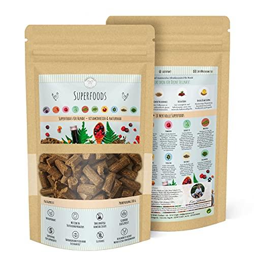 Green PAWLY Trockenfutter für Hunde - kaltgepresst, naturnah mit SUPERFOODS/Vitamin,-nährstoffreich/hoher Frischfleischanteil, magenschonend (hohe Verträglichkeit), Probetüte 2X 100g