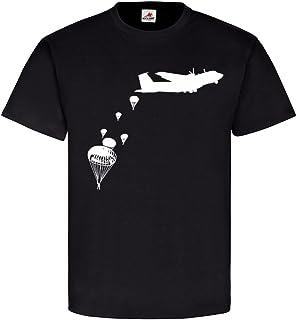 Copytec Paracaidista paracaídas Redondo Tapa Bundeswehr BW Ejército Militar Aire Arma–Camiseta # 8625