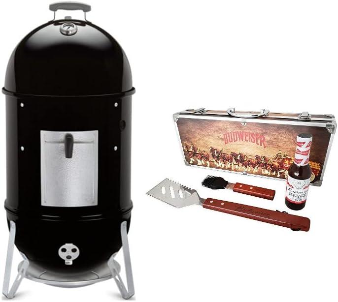 Weber Smokey Mountain Cooker 18-Inch Smoker BBQ Bundle (2 Items)