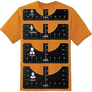 T-Shirt Ruler Guide Alignment Tool-Foldable Tshirt Alignment Tool to Center Designs T-Shirt for Adult Youth Toddler Infant  Black&Center Ruler