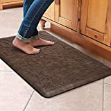 KMAT Kitchen Mat Cushioned Anti-Fatigue Floor Mat Waterproof Non-Slip Standing Mat Ergonomic Comfort Floor Mat Rug for Home,Office,Sink,Laundry,Desk 17.3' (W) x 28'(L),Brown