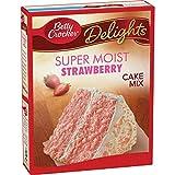 Betty Crocker Baking Mix, Super Moist Cake Mix, Strawberry, 15.25 Oz...
