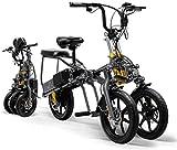 JXH Pliant Vélo électrique 2 Batteries 350W VTT 1 Second Haut de Gamme Pliable Tricycle pour...