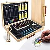 Artina Set da Disegno con manichino in Valigetta - Leonardo 45 unità: pennelli, acrilici, matite,...