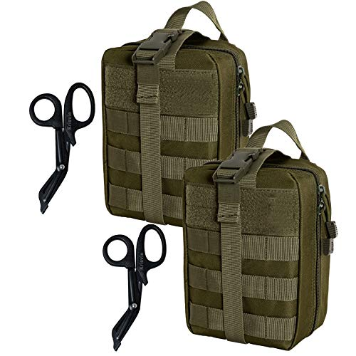 Krisvie 2Pack Rip-Away EMT Pouch Pouch Molle Pouch First Aid...