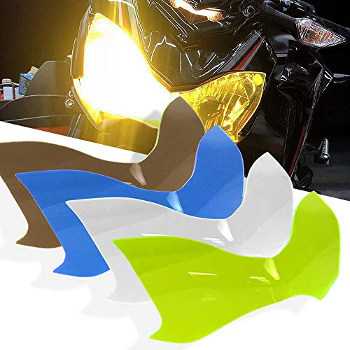 for Kawasaki Z900 2017-2018 faro de guardia Luz de la cabeza Lente Cubrir protectora Z900 Z-900 Z 900 17 18 Partes de motocicleta (Verde fluorescente)