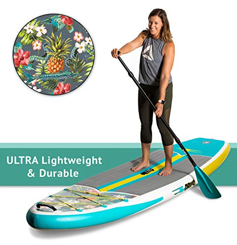 DRIFT Inflatable Stand Up Paddle Board, SUP with Accessories | Pump, Lightweight Paddle, Fin & Backpack Travel Bag, Native