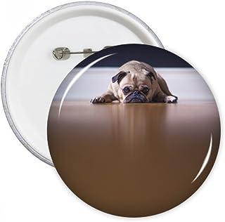 DIYthinker Cadeau de chien Chambre animal étage Image ronde Pins Badge Bouton Vêtements Décoration Multicolore XXL