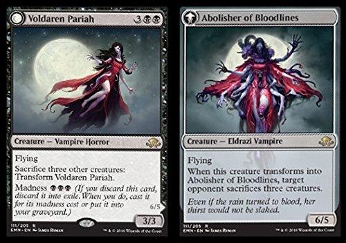 Magic The Gathering - Voldaren Pariah // Abolisher of Bloodlines (111/205) - Eldritch Moon