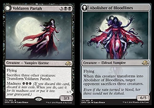 Magic The Gathering - Voldaren Pariah // Abolisher of Bloodlines (111/205) - Eldritch Moon