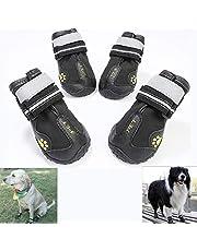 GSDJU Zapatos Reflectantes para Perros Calcetines Botas para Perros de Invierno Calzado Ropa de Lluvia Impermeable Antideslizante Zapatos para Mascotas para Perros Husky Medianos Grandes