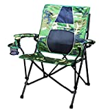 STRONGBACK Elite Folding Camping Chair with Lumbar Support, Camo