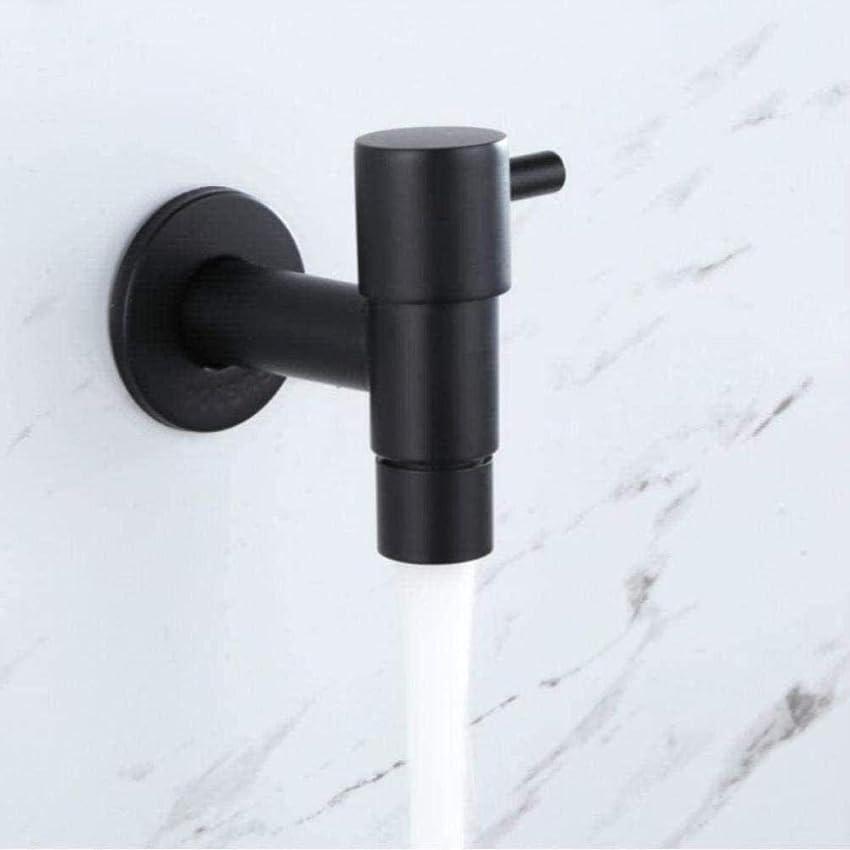 鏡専ら最近水道蛇口モップ冷たいプール304 Moppmatteマットブラックステンレス鋼の単一ワッシャー