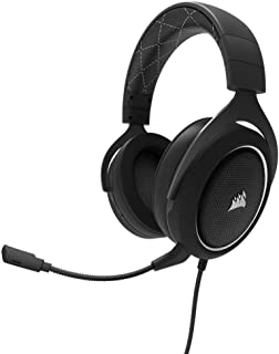 CORSAIR HS60 – 7.1 Virtual Surround Sound PC Gaming Headset w/USB DAC, Compatible with Xbox One, PS4, and Nintendo Switch, White