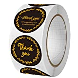 Thank You for Supproting My Small Business Stickers,4 Designs, 500Pcs 1.5 inch Round Thank You Stickers Roll,Thank You Labels for Bakeries,Crafters & Small Business Owners