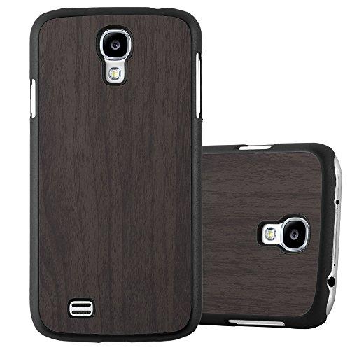 Cadorabo Custodia per Samsung Galaxy S4 in Woody Nero - Rigida Cover Protettiva Sottile con Bordo Protezione - Back Hard Case Ultra Slim Bumper Antiurto Guscio Plastica