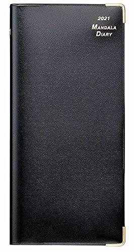 2021年 マンダラ手帳(ブラック・ポケットサイズ)
