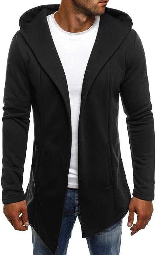 Winter Blazer Jacket Men, NRUTUP Cotton Cardigan Blazer, Hooded Jacket Smart Winter Long Top Coat Overcoat