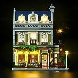 BRIKSMAX Ristorante Parigino Kit di Illuminazione a LED- Compatibile con Il Modello Lego 10243 Mattoncini da Costruzioni - Non Include Il Set Lego