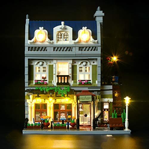 BRIKSMAX Parisian Restaurant Led Beleuchtungsset - Kompatibel Mit Lego 10243 Bausteinen Modell - Ohne Lego Set