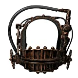 Horror Mask Men's Reverse Bear Trap Full Head Mask Soft Resin Halloween Cosplay Mask Collectibles for Men Brown