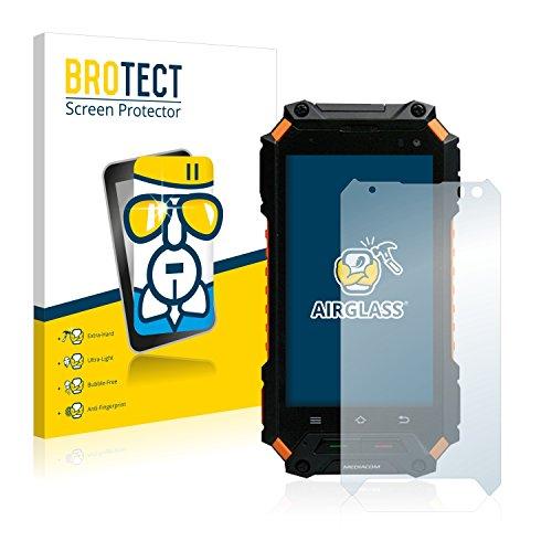 BROTECT Panzerglas Schutzfolie kompatibel mit Mediacom PhonePad R450 - AirGlass, extrem Kratzfest, Anti-Fingerprint, Ultra-transparent
