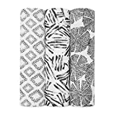 aden + anais Silky Soft Swaddle Blanket,100% Bamboo Viscose Muslin Blankets for Girls & Boys, Baby Receiving Swaddles, Ideal Newborn & Infant Swaddling Set, 3 Pack, in Motion