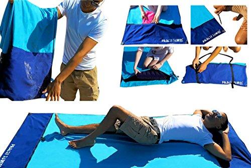 Mikrofaser-Strandtuch, extra groß, leicht, winddicht, wasserfest, sandfest, diebstahlsicher, schnell trocknendes Handtuch