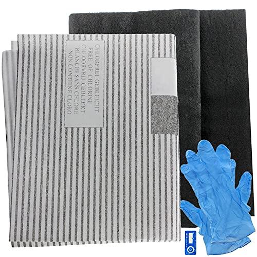SPARES2GO - Filtri antigrasso grandi universali per condotti di ventilazione di cappe da cucina (2 filtri, tagliati su misura – 100 cm)