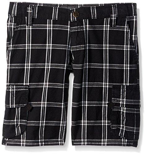 Wrangler Authentics Boys' Big Fashion Cargo Short, Black Plaid, 16