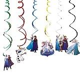 Artículos de fiesta-WENTS elsa und anna Decoraciones colgantes en forma de remolino elsa und anna Theme Whirls Glitter Foil Foil Swirls Streamers Decoraciones de cumpleaños Baby Shower Party Favors
