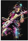 Leinwand kunst 30x45cm Kein Rahmen Carlos Santana Poster