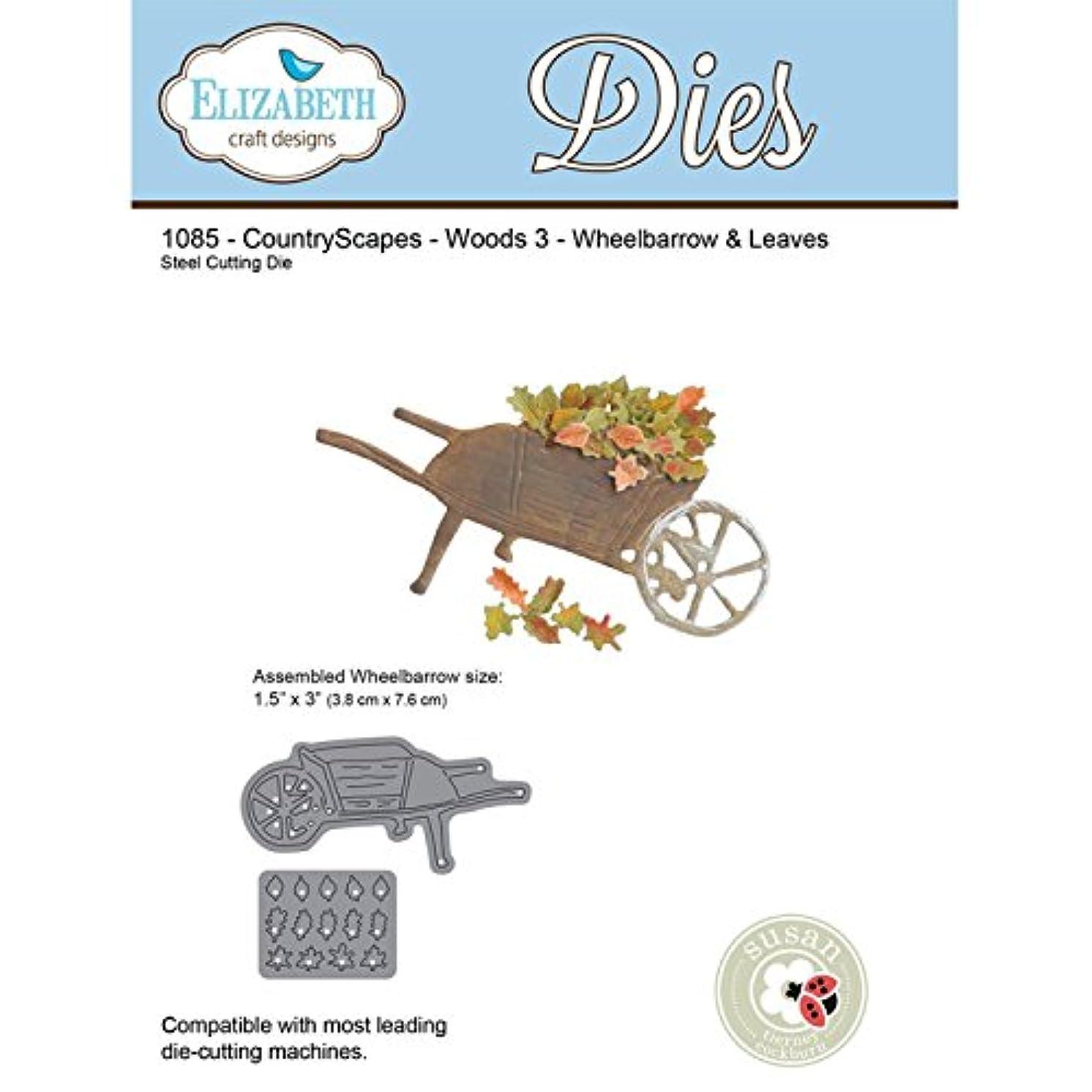 Elizabeth Craft Designs CountryScapes Steel Die - Woods 3 -Wheelbarrow & Leaves 1085