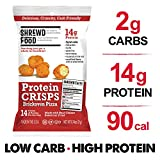 Shrewd Food Low Carb Keto Protein Puffs Brickoven Pizza 8 Pack | 112g Protein (14g per Serving), 2g...