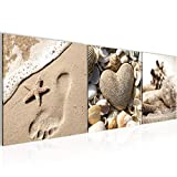 ? Decoración de pared Tabla onque arena - 120 x 40 cm Vista de impresión en lienzo Salón Apartamento - listo para colgar - 504233a