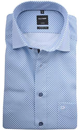 OLYMP Herren Hemd Modern Fit Kurzarm bleu (50) 44