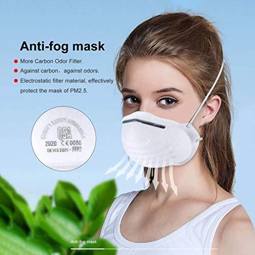 Atemschutzmaske FFP2 Maske Atemschutz Mundschutz Atemschutzmaske zur Prophylaxe Schmierinfektionen & Tröpfcheninfektionen (1PCS) - 5