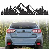 Byzee Vinyl Mountain Decal, Car Emblem Graphic, Tree Sticker for Trunk Rear (7' inch)