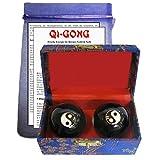 3-tlg Qi Qui Gong Kugel PAAR Meridian Massage REFLEXZONEN Klangkugeln - Energie - Harmonie -...