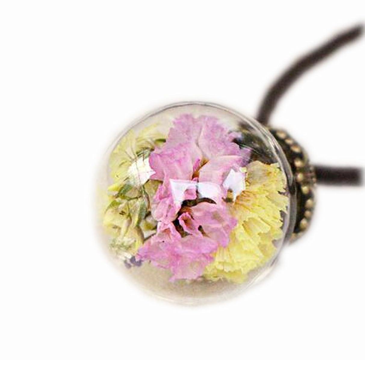 ポジティブデンマーク語容赦ない美しい乾燥した花のペンダントネックレスセーターの装飾品